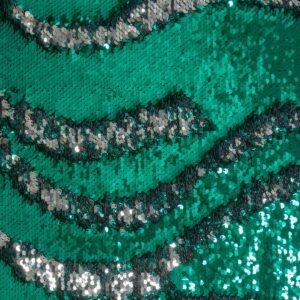 Wendepaillette, Bicolor, Grün, Silber