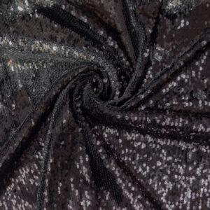 Wendepaillette, Bicolor, Schwarz, Silber