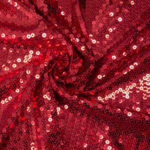Paillette unterlegt mit Jersey, Uni, Rot