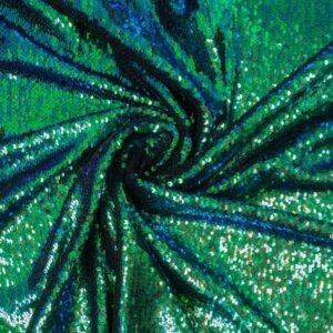 Wendepaillette, Bicolor, changierend, Blau, Grün, Schwarz