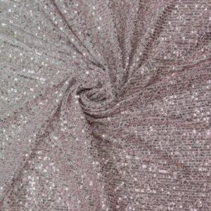 Stretch Paillette unterlegt mit Tüll, Linien, Farbverlauf, Rosé, Silber