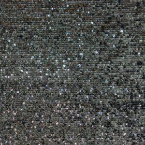 Stretch Paillette unterlegt mit Tüll, traversverlaufend, Linien, Schwarz, Anthrazit