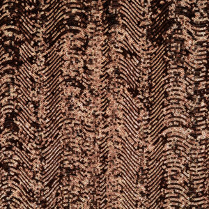 Stretch Paillette unterlegt mit Tüll, grafisch gemustert, Wellen, Schwarz, Bronze