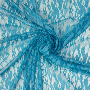 Spitze, florales Muster, Türkis