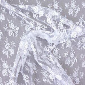 Spitze, Bogenkante, Blütengestecke, Weiß