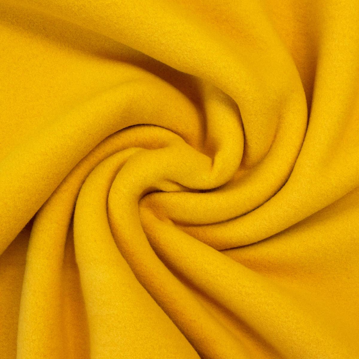Fleece aus Bio-BW, Uni, Gelb, Sonnengelb