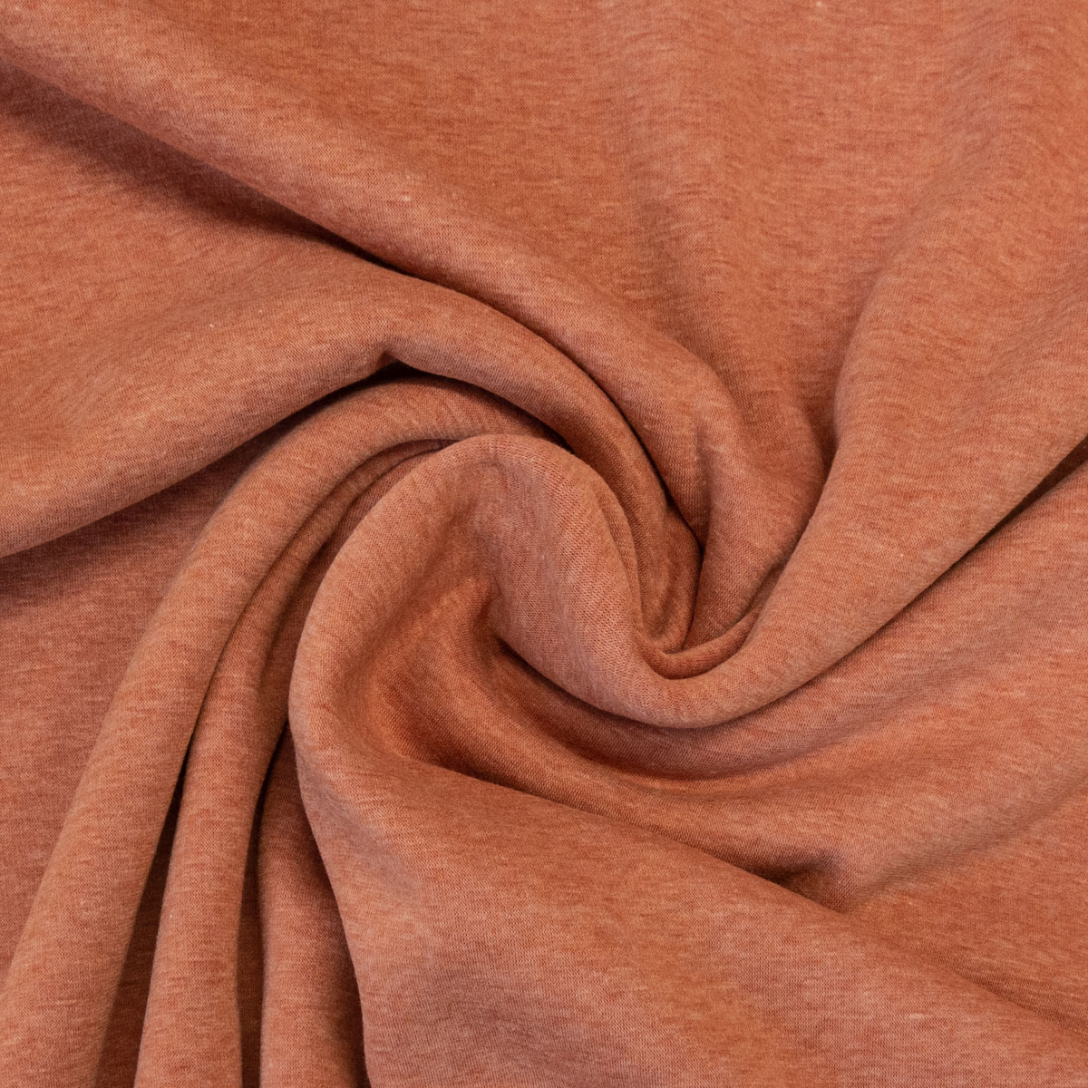 Alpenfleece, Double Face, meliert, Orange