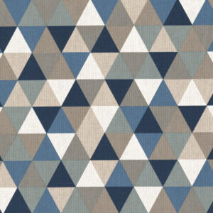Panama, geometrisch gemustert, Offwhite, Natur, Blautöne