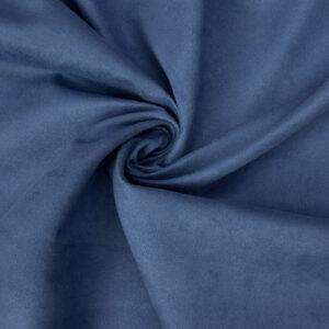 Velourlederimitat, Uni, Blau