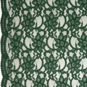 Spitze, florales Muster, Bogenkante, Tannengrün