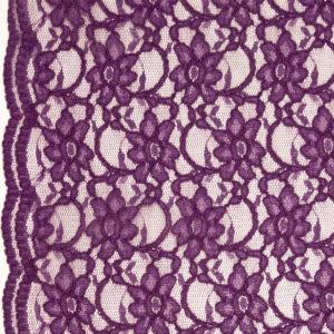 Spitze, florales Muster, Bogenkante, Violett