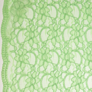Spitze, florales Muster, Bogenkante, Hellgrün
