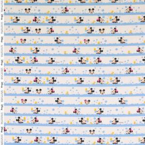 Popeline, Comic-Stil, Streifen, bunt, Schwarz/Weiß, Hellblau