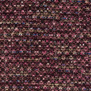 Tweed, Bouclé-Struktur, Glanzeffekt, Schwarz, Beerentöne, Gold