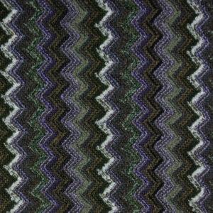 Jacquardstrick, Chevron-Muster, Violett, Oliv, Kitt
