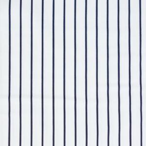 hochwertiger Baumwollsatin, Streifen, Offwhite, Marine