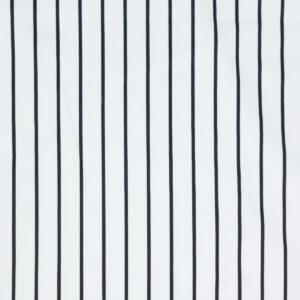 hochwertiger Baumwollsatin, Streifen, Offwhite, Schwarz