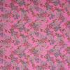 Baumwollsatin, Blütenzweige, Pink hell, Blau, Creme