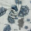 Gobelin, maritim gemustert, Offwhite, Blautöne
