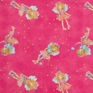 Baumwolljersey, Kindermotive, Pink, Türkistöne
