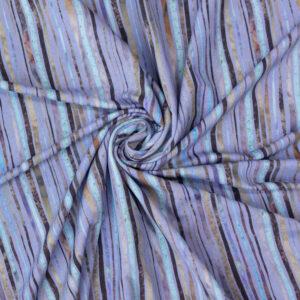 Viskosejersey, abstrakt gemustert, Flieder, Mint, Grau