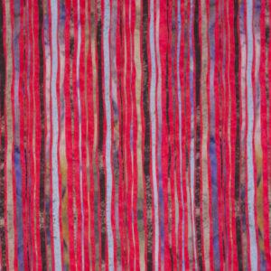 Viskosejersey, abstrakt gemustert, Rot, Beerentöne, Schwarz