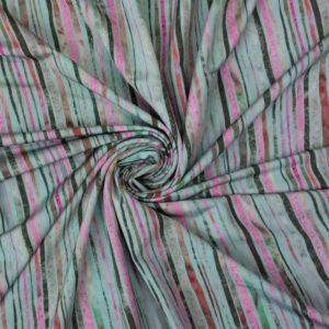 Viskosejersey, abstrakt gemustert, Grau, Mint, Rosa