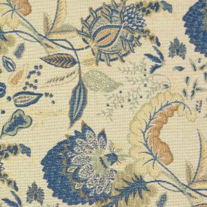 Gobelin, Blumen, Blau