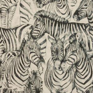 Gobelin, Zebras, Offwhite, Schwarz