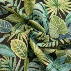 Gobelin, Palmblätter, Grüntöne, Schwarz