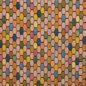Gobelin, geometrisch gemustert, Rosé, Blautöne