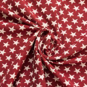 Gobelin, Sterne, Offwhite, Rot