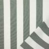 Outdoorstoff, Blockstreifen, Weiß, Grau