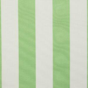 Outdoorstoff, Blockstreifen, Weiß, Hellgrün