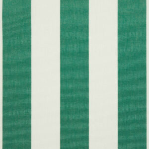 Outdoorstoff, Blockstreifen, Weiß, Grün