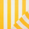 Outdoorstoff, Blockstreifen, Weiß, Gelb