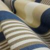 Outdoorstoff, längs gesteift, Beige, Blau, Weiß