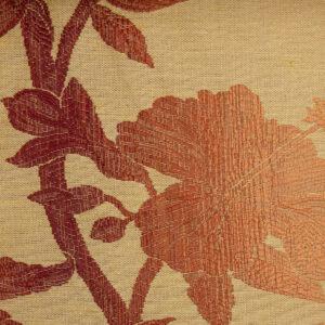 hochwertiger Jacquard, Blumenranken, Farbverlauf, Beige, Orangetöne