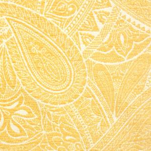 Chenillejacquard, Paisley-Muster, Gelbtöne, Cremetöne