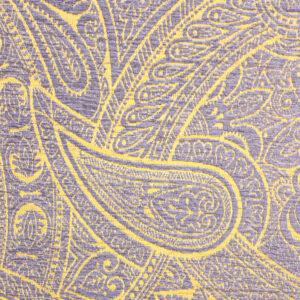 Chenillejacquard, Paisley-Muster, Flieder, Gelbtöne