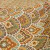 2,80m breiter Jacquard, ornamental gemustert, Pastellgrün, Curry, Rost