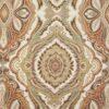 Gobelin, geometrisch gemustert, ornamental gemustert, Cremetöne, Brauntöne, Pastellgrün