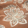 2,80m breiter Jacquard, Blütenzweige, Orangetöne, Blautöne, Sand