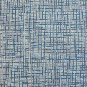 2,80m breiter Jacquard, Webmuster, Blautöne, Grautöne