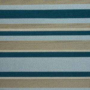 2,80m breiter Jacquard, gestreift, Blautöne, Beigetöne