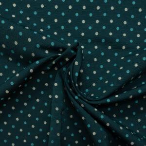 2,80m breiter Jacquard, gepunktet, Blautöne, Creme