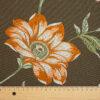 2,80m breiter Jacquard, Blütenzweige, Brauntöne, Orangetöne, Grüntöne
