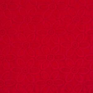 leichter Jacquard, Stickerei, Blütenmuster, Rot
