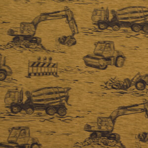 Baumwolljersey, Kindermotive, Goldbraun, Dunkelbraun