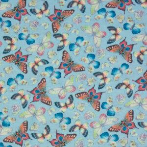Jersey, Schmetterlinge, Blautöne, Rosa